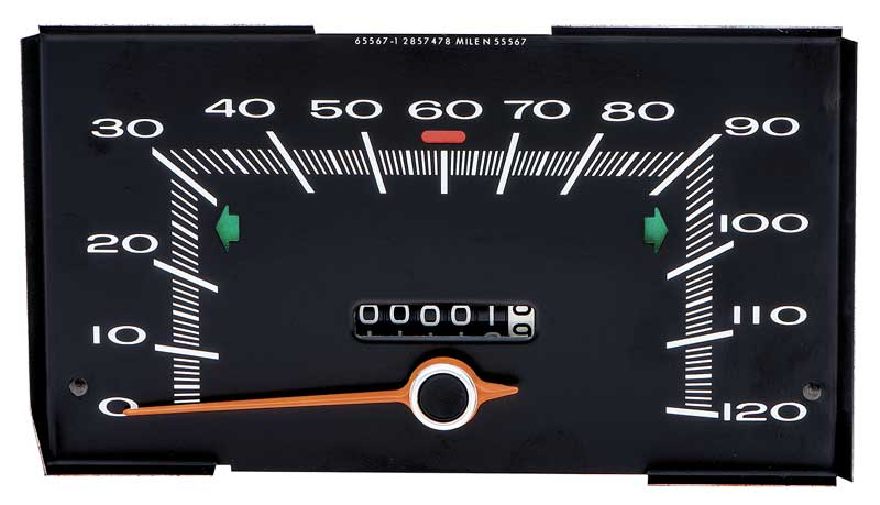 1970 -1972 Duster 120 Mph Speedometer
