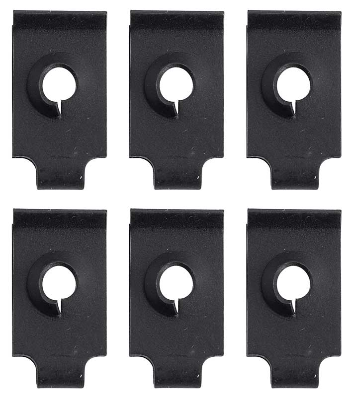 1965 Mustang Instrument Bezel U-Nut Set - 6Pc