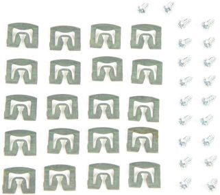 1971-1974 Windshield Molding Clip Set (Hardtop/Coupe) - 20PC