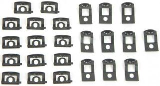 1966-1967 Windshield Molding Clip Set - 48PC