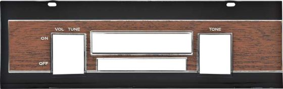 1968-1969 Coronet Wood Grain Radio Bezel