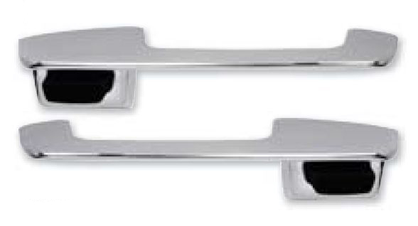 1968-1969 Outer Door Handle Set (Black Button)