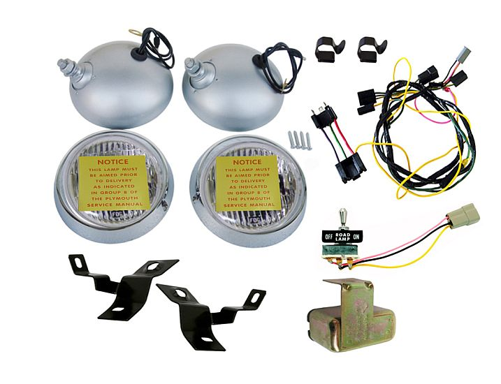 1970-1971 Road Lamp Assembly Kit W/Bulbs