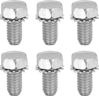 1970-1974 Crankshaft Pulley Bolt Set (All Engines) - 6Pc