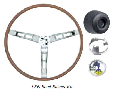 1970 Deluxe Wood Grain Steering Wheel Kit (Road Runner)