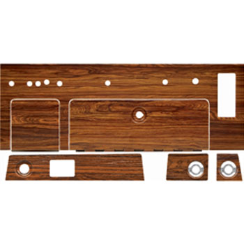 1969 Complete Dash Woodgrain Set