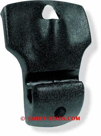 1968-1969 Inner Rear View Mirror Bracket Boot (black coupe)