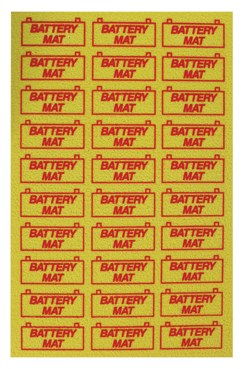 1964-1972 Battery Mat Tray Saver (Yellow)