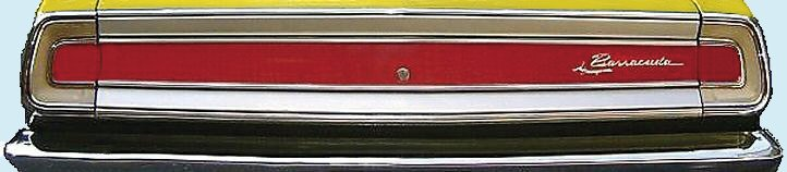 1968 Barracuda Deck Lid Stripe