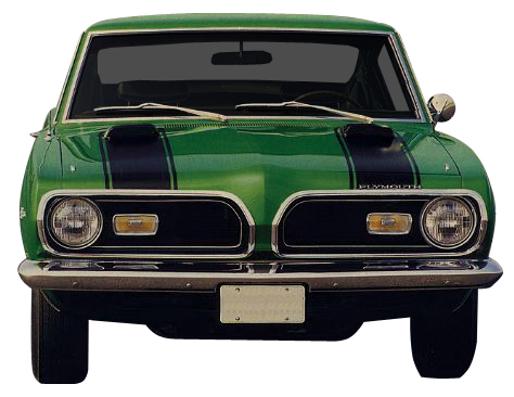 1969 Barracuda Hood & Header Stripe Kit (Matte Black)