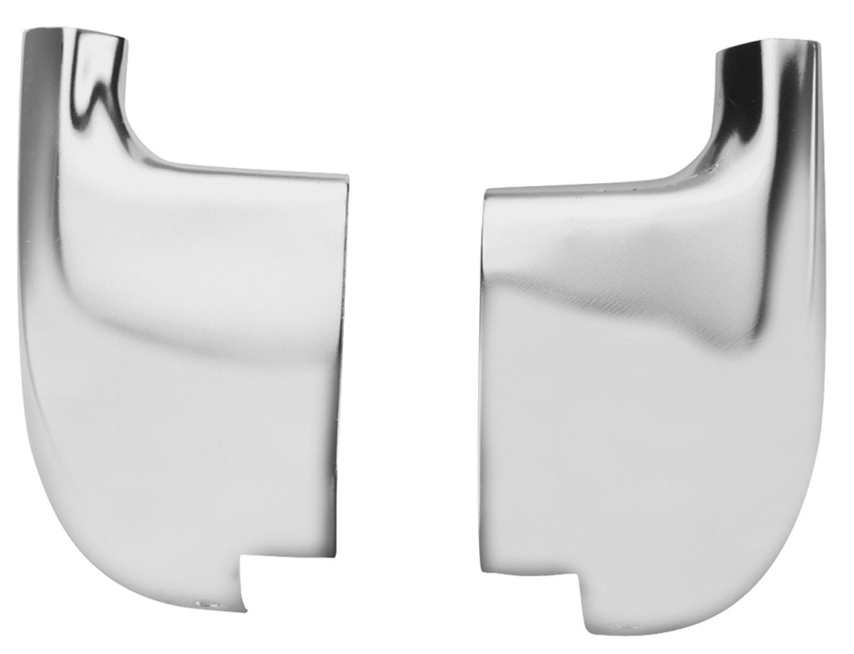 1964 Lower Rocker Molding Rear Extensions - Pair