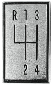 1966-1967 M/T Shift Pattern For Console (4 Speed)