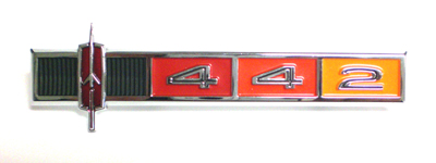 "1965 CUTLASS DASH PANEL EMBLEM ""442"""