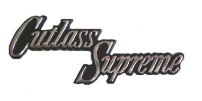 1970-1972 CUTLASS SUPREME GLOVEBOX EMBLEM