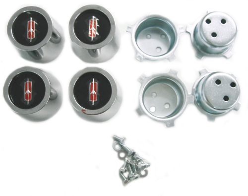 1964-1972 SUPER STOCK I CENTER CAP SET W/EMBLEMS
