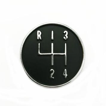 1964-1972 4 Speed Console Shifter Pattern Emblem