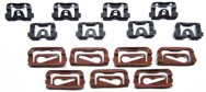 1968-1972 Front Window Molding Clip Kit - 15Pc
