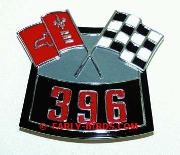 "1965 Z-16 Malibu ""SS"" Air Cleaner Emblem ""396"" - Each"