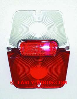 1962-1964 Tail Lamp Lens Set  - 3Pc