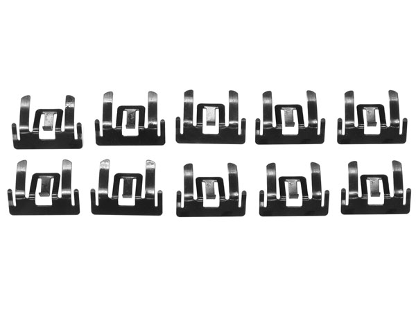 1966-1967 Upper Side Reveal Molding Clips Set - 10Pc