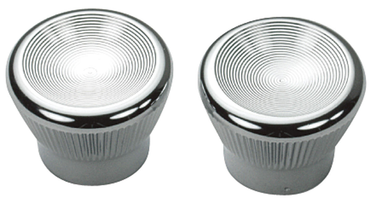 1967-1968 Dash Vent Cable Knobs (Chrome) - PR