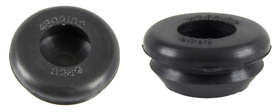 1964-1972 BODY PLUG, RUBBER, ONE INCH - PAIR