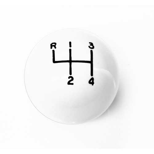 "1964-1969 Manual Transmission Shift Knob White (3/8"")"